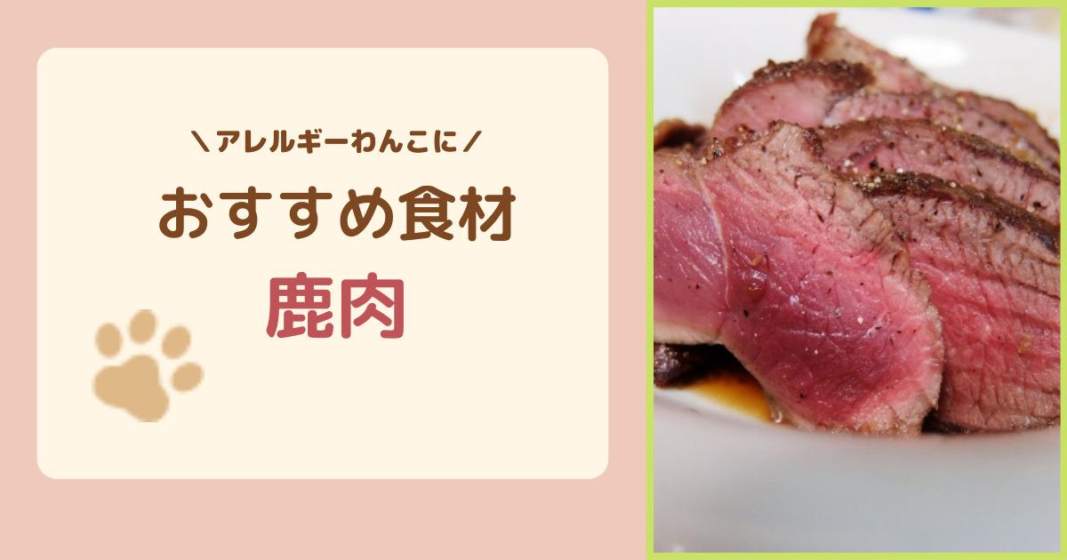 鹿肉はアレルギーの犬におすすめ!鹿肉のメリット・デメリット、おすすめ鹿肉フードを紹介